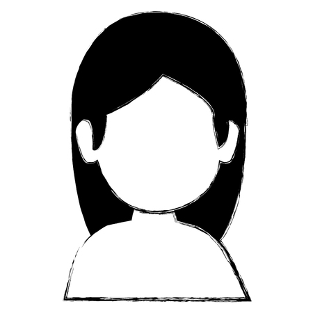 hair style: beautiful woman shirtless avatar character vector illustration design Illustration