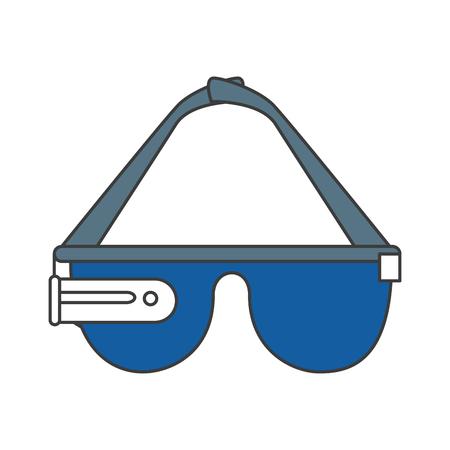 reality virtual glasses icon vector illustration design