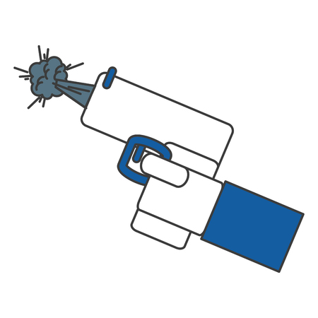 hand with gun icon vector illustration design Zdjęcie Seryjne