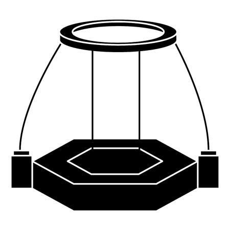 현실 가상 플래터 기술 벡터 일러스트 레이션 디자인 일러스트