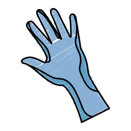 virtual reality glove technology vector illustration design