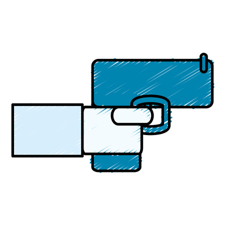 hand with gun icon vector illustration design Illustration