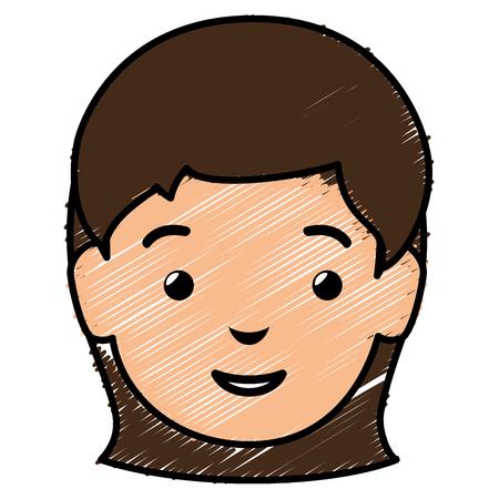 hair style: beautiful woman head avatar character vector illustration design Illustration