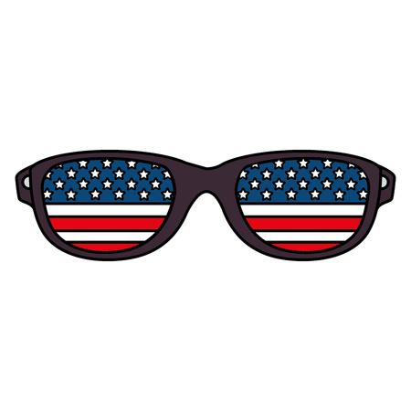 sunglasses with usa flag vector illustration design Ilustração