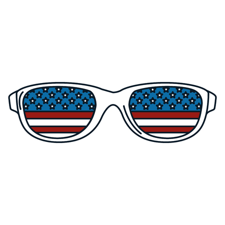 sunglasses with usa flag vector illustration design Illustration