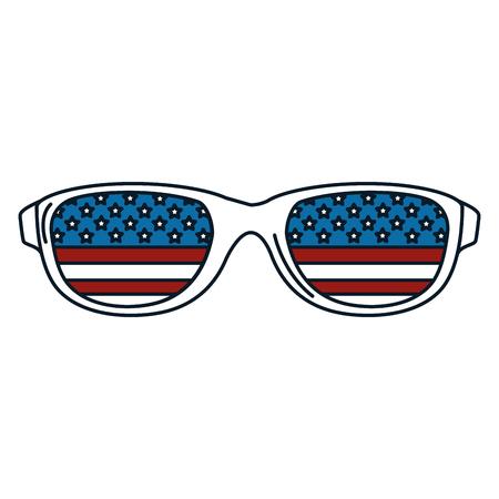 sunglasses with usa flag vector illustration design Illusztráció