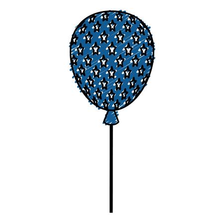 usa balloon air celebration vector illustration design