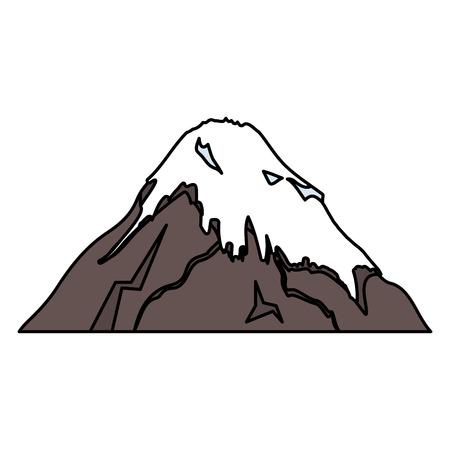 富士山日本のアイコン ベクトル イラスト デザイン  イラスト・ベクター素材