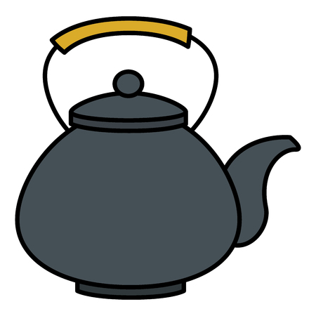 japanese teapot isolated icon vector illustration design Ilustrace