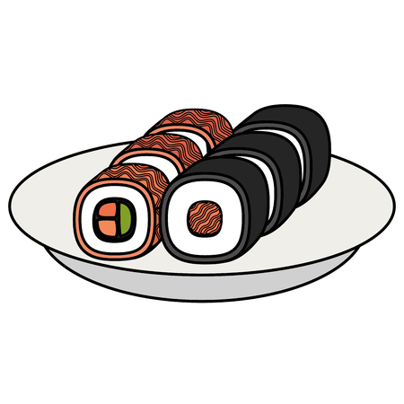 sushi japanese food icon vector illustration design Ilustração