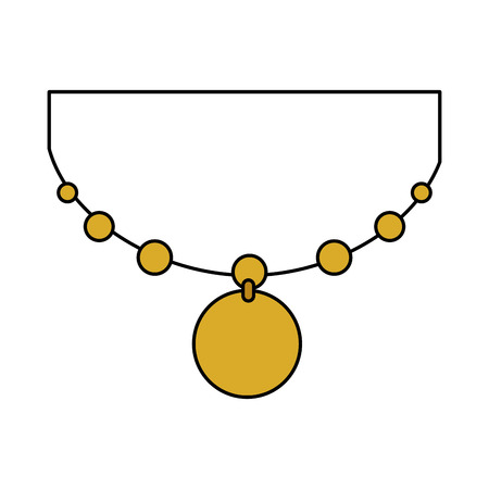 japanese necklace isolated icon vector illustration design