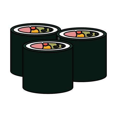 sushi japanese food icon vector illustration design Çizim