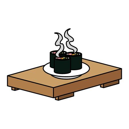 Sushi japonais icône illustration vectorielle conception de fond Banque d'images - 83798126