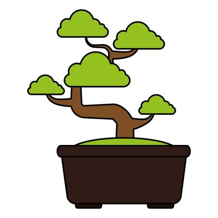 Bonsai tree isolated icon vector illustration design Фото со стока - 83798127