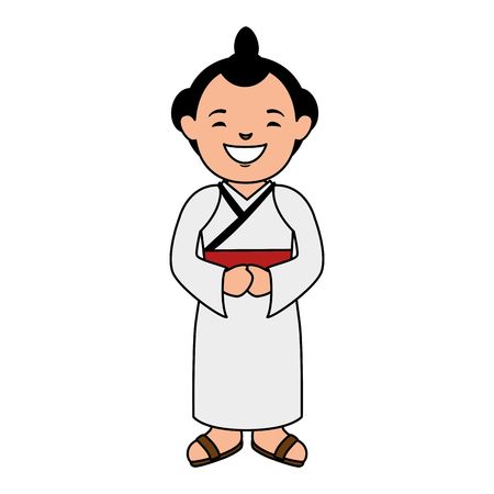 man japanese avatar character vector illustration design Stock fotó
