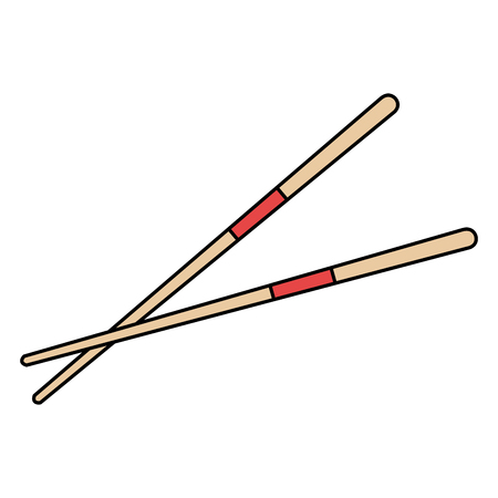 chopsticks element isolated icon vector illustration design