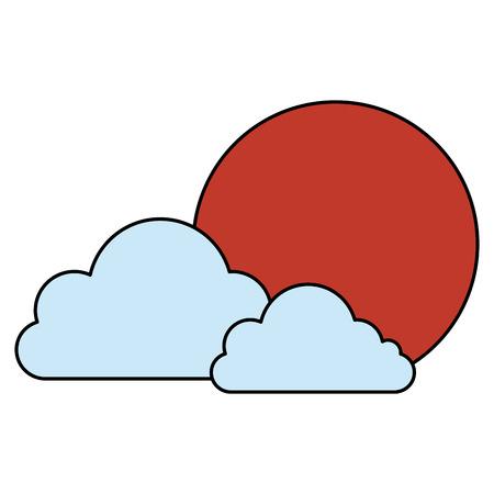 日本の太陽と雲のベクトル イラスト デザイン 写真素材