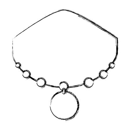 日本ネックレス分離アイコン ベクトル イラスト デザイン  イラスト・ベクター素材