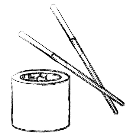 japanese cuisine: sushi japanese food icon vector illustration design Illustration