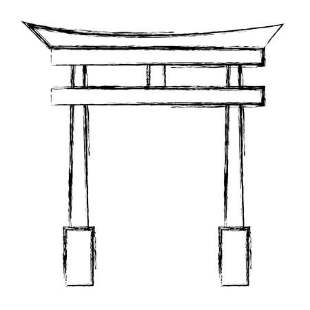 japanese portal isolated icon vector illustration design Illustration
