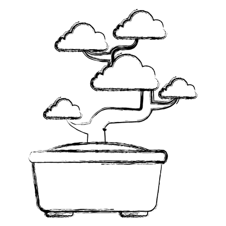 Bonsai tree isolated icon vector illustration design Иллюстрация