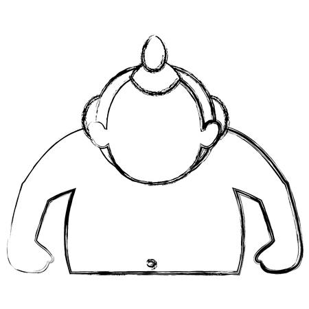 Sumo worstelaar avatar karakter vector illustratie ontwerp