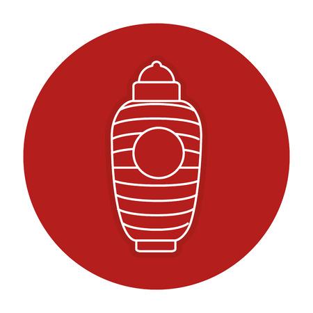 japanese lamp isolated icon vector illustration design Illustration