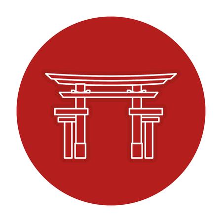 japanese portal isolated icon vector illustration design 向量圖像