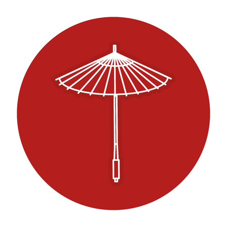 japanese umbrella isolated icon vector illustration design Ilustração