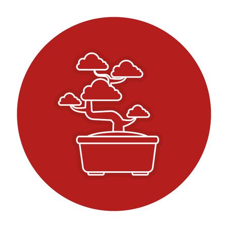Bonsai tree isolated icon vector illustration design Illustration