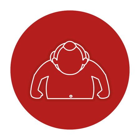Sumo-worstelaaravatar ontwerp van de karakter het vectorillustratie