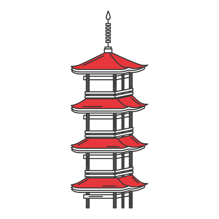 japanese temple isolated icon vector illustration design
