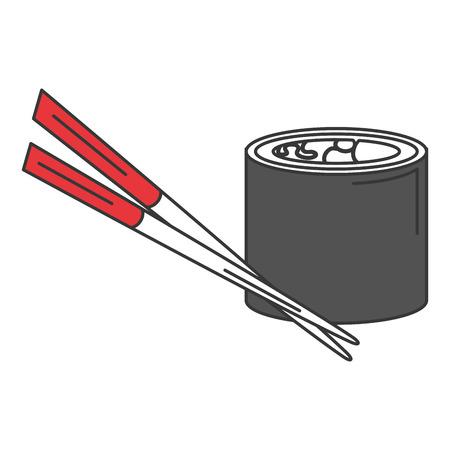 sushi japanese food icon vector illustration design Иллюстрация