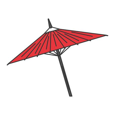 japanese umbrella isolated icon vector illustration design Stok Fotoğraf
