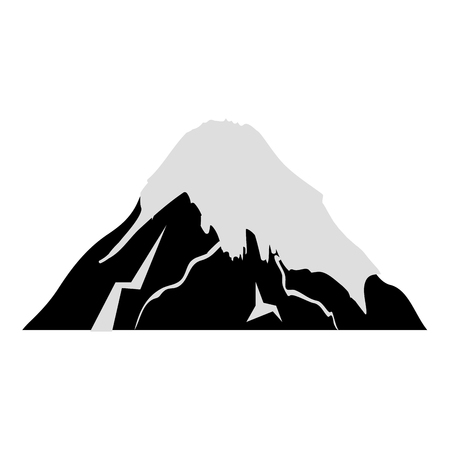fuji mount japanese icon vector illustration design