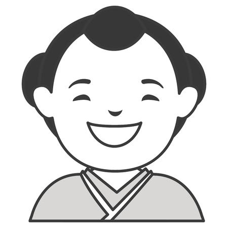 man japanese avatar character vector illustration design Ilustração