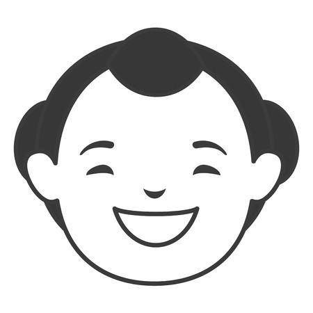 남자 일본 아바타 캐릭터 벡터 일러스트 레이션 디자인