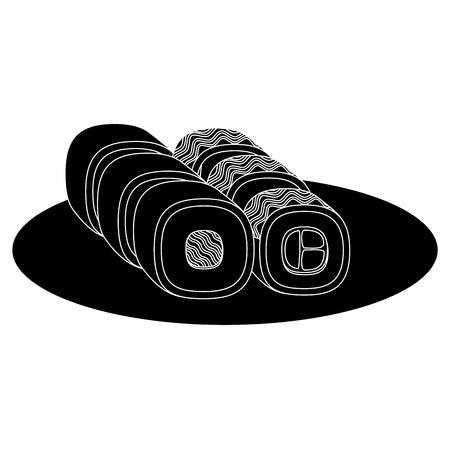 Sushi japonais icône illustration vectorielle conception de fond Banque d'images - 83798505