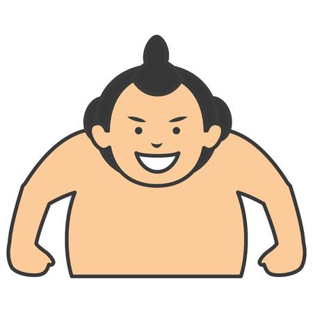 相撲レスラー アバター文字ベクトル イラスト デザイン 写真素材 - 83798635