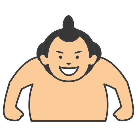 Sumo wrestler avatar character vector illustration design