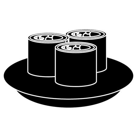 Sushi japonais icône illustration vectorielle conception de fond Banque d'images - 83798641