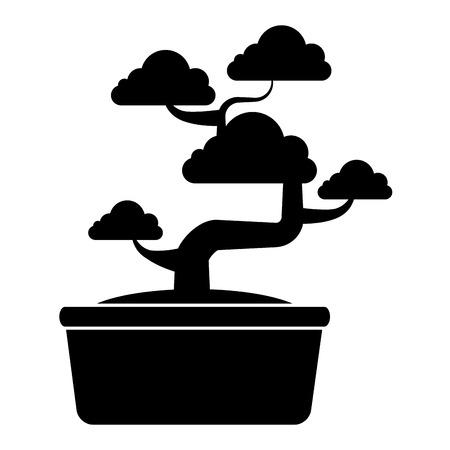 Bonsai tree isolated icon vector illustration design 矢量图像