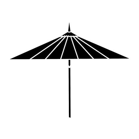 japanese umbrella isolated icon vector illustration design Çizim