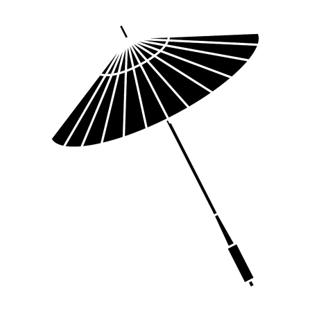 japanese umbrella isolated icon vector illustration design Çizim