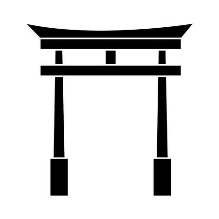 japanese portal isolated icon vector illustration design Ilustração