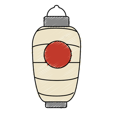 japanese paper art: japanese lamp isolated icon vector illustration design Illustration
