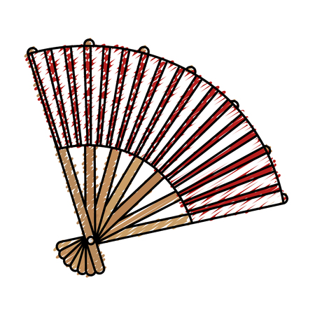 japanese fan isolated icon vector illustration design