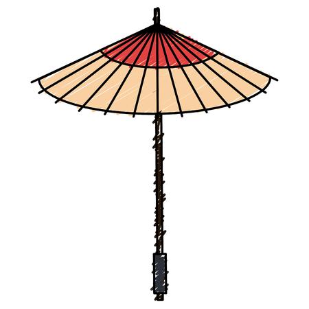 japanese umbrella isolated icon vector illustration design Illusztráció