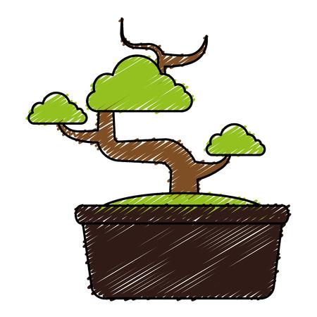 Bonsai tree isolated icon vector illustration design 向量圖像