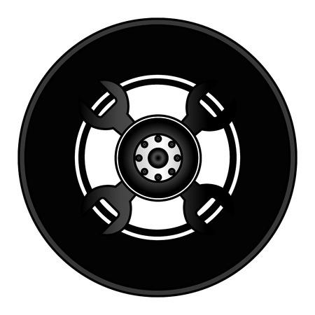 tire car isolated icon vector illustration design Illustration